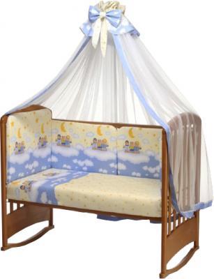 Комплект в кроватку Perina Аманда А4-02.4 (Ночка голубой) - общий вид