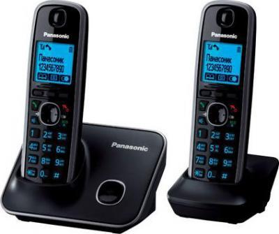 Беспроводной телефон Panasonic KX-TG6612  (Black, KX-TG6612RUB) - вид сбоку
