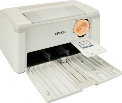 Принтер Epson AcuLaser M1400 - общий вид (открытые лотки)