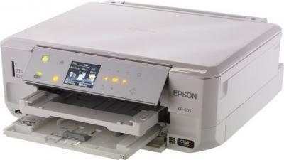 МФУ Epson Expression Premium XP-605 - общий вид (открытые лотки)