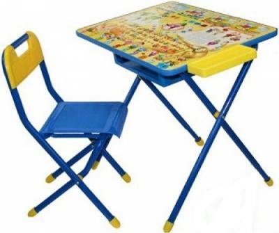 Стол+стул Дэми №2 Веселые гномы (синий) - общий вид