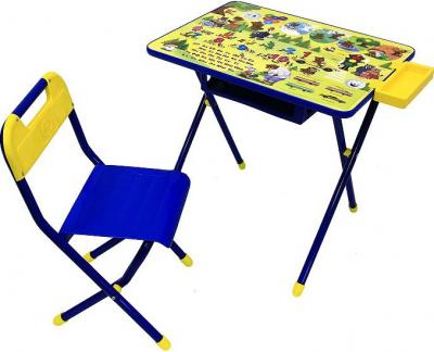 Стол+стул Дэми №2 Медведи (синий) - общий вид