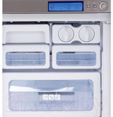 Холодильник с морозильником Sharp SJ-F96SPBK