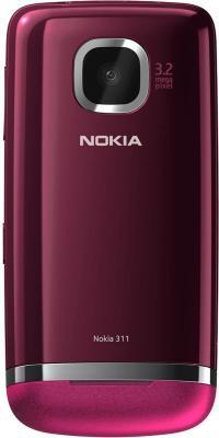 Мобильный телефон Nokia Asha 311 (Rose Red) - задняя панель