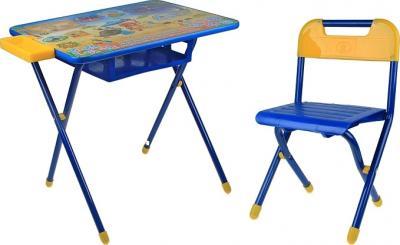 Стол+стул Дэми №3 Львенок и Черепаха (синий) - общий вид