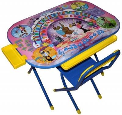 Стол+стул Дэми У3-04 Всезнайка: Ну погоди (синий) - общий вид