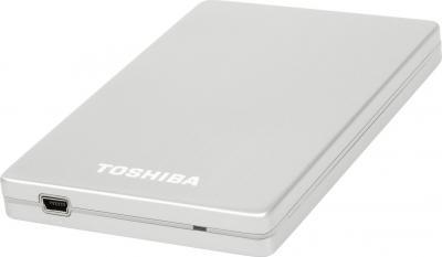 Внешний жесткий диск Toshiba STOR.E ALU 2S 2.5 500G USB 3.0 silver (PA4236E-1HE0) - лежит