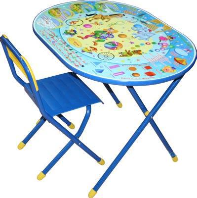 Стол+стул Дэми УЗ-01 Овал: Цирк (синий) - общий вид