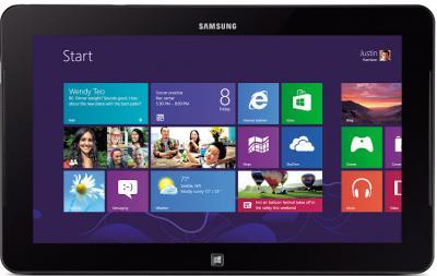 Планшет Samsung ATIV Smart PC Pro 128GB (XE700T1C-A02RU) - фронтальный вид