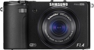 Компактный фотоаппарат Samsung EX2F (EC-EX2FZZBPBRU) (Black) - вид спереди