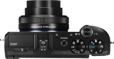 Компактный фотоаппарат Samsung EX2F (EC-EX2FZZBPBRU) (Black) - вид сверху
