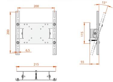 Кронштейн для телевизора Electric Light КБ-01-17 - схематическое изображение