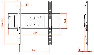 Кронштейн для телевизора Electric Light КБ-01-53 - габаритные размеры