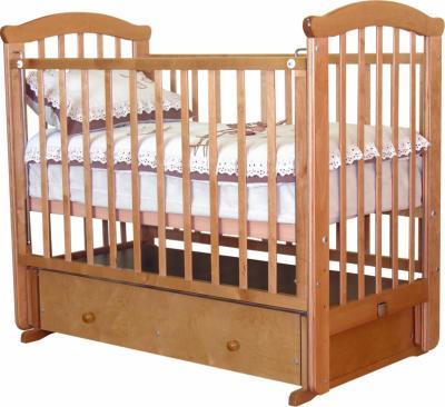 Детская кроватка Красная звезда Ирина С625 (Орех) - общий вид