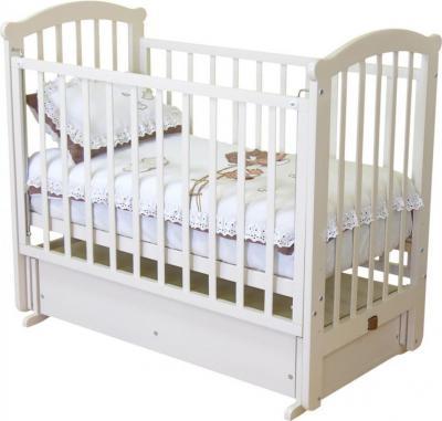 Детская кроватка Красная звезда Ирина С625 (Белая) - общий вид