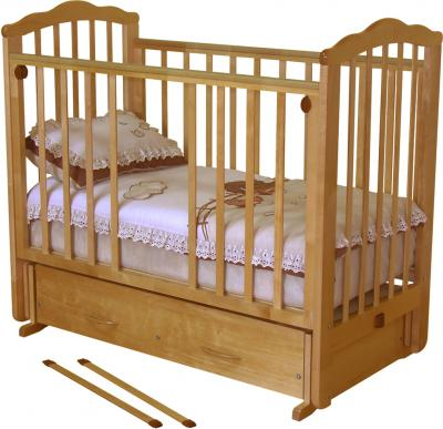 Детская кроватка Красная звезда Элина С669 (Орех) - общий вид