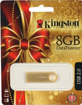 Usb flash накопитель Kingston DataTraveler GE9 8GB DTGE9/8GB (KC-U628G-3T) - подарочная упаковка