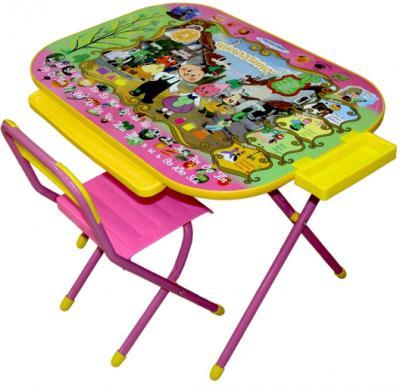 Стол+стул Дэми У3-04 Всезнайка: Чипполино (розовый) - общий вид