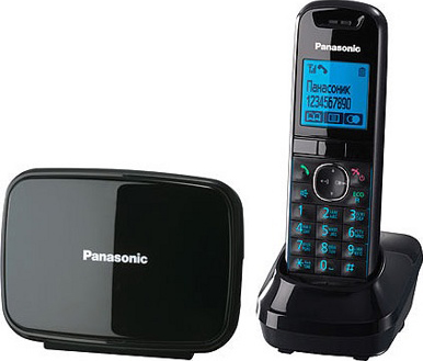 Беспроводной телефон Panasonic KX-TG5581 Black (KX-TG5581RUB) - общий вид