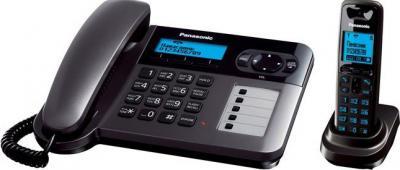 Беспроводной телефон Panasonic KX-TG6451  (титановый) - вид сбоку