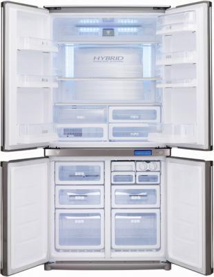 Холодильник с морозильником Sharp SJ-F96SPSL - внутренний вид