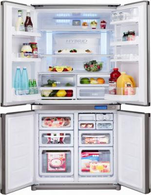 Холодильник с морозильником Sharp SJ-F96SPSL - общий вид
