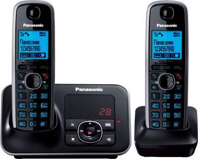 Беспроводной телефон Panasonic KX-TG6622 Black (KX-TG6622RUB) - общий вид