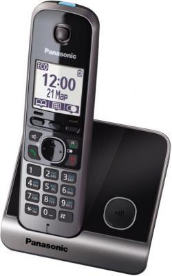 Беспроводной телефон Panasonic KX-TG6711 (черный) - вид сбоку