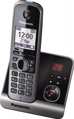 Беспроводной телефон Panasonic KX-TG6721  (черный) - общий вид