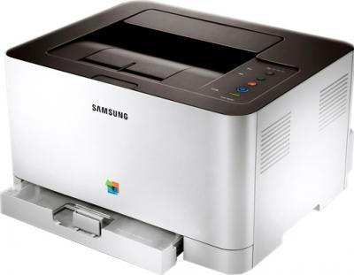 Принтер Samsung CLP-365W - общий вид (открытый лоток)