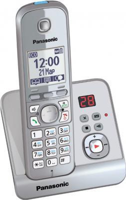 Беспроводной телефон Panasonic KX-TG6721 (серебристый) - вид сбоку