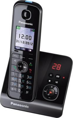 Беспроводной телефон Panasonic KX-TG8161  (черный) - вид сбоку