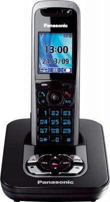 Беспроводной телефон Panasonic KX-TG8421 (Titanium, KX-TG8421RUT) - общий вид