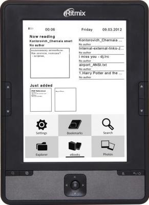 Электронная книга Ritmix RBK-610 (microSD 8Gb) - общий вид