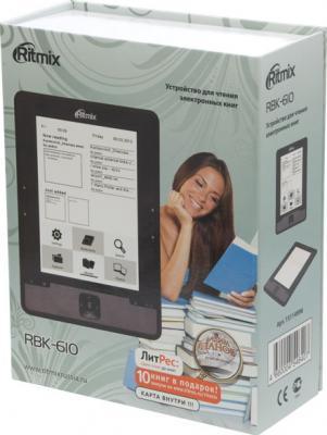 Электронная книга Ritmix RBK-610 (microSD 8Gb) - коробка