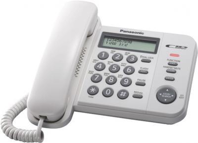 Проводной телефон Panasonic KX-TS2356  (белый) - общий вид