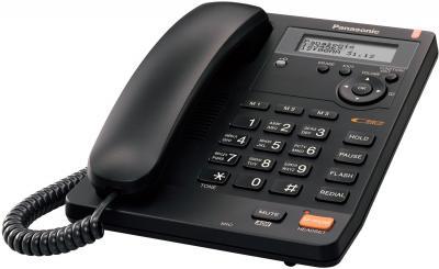 Проводной телефон Panasonic KX-TS2570 (черный) - общий вид
