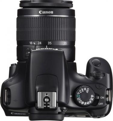 Зеркальный фотоаппарат Canon EOS 1100D Kit 18-55mm IS II Black (с комплектом SD 8GB+100EG+LC) - вид сверху