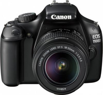 Зеркальный фотоаппарат Canon EOS 1100D Kit 18-55mm IS II Black (с комплектом SD 8GB+100EG+LC) - общий вид