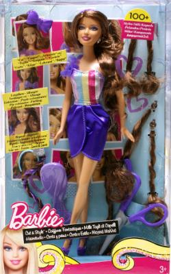"""Коллекционная кукла Mattel Барби """"Модная прическа"""" Брюнетка (W3909/W3911) - в упаковке"""