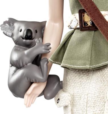 Коллекционная кукла Mattel Барби Австралия (X3902/W3321) - фигурка коалы
