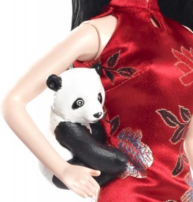 Коллекционная кукла Mattel Барби Китай (X3902/W3323) - фигурка панды