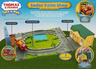 Железная дорога детская Fisher-Price Лакокрасочный завод с Биллом (R9111/W9325) - упаковка