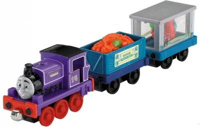 Элемент железной дороги Fisher-Price Новые истории: Чарли + 2 вагончика (R9466/R9470) - общий вид