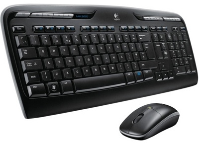 Клавиатура+мышь Logitech Wireless Desktop MK330 (920-003995) - общий вид