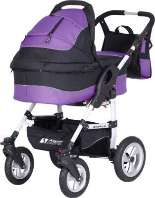 Детская универсальная коляска Riko Alpina (Ultra Violet) - общий вид