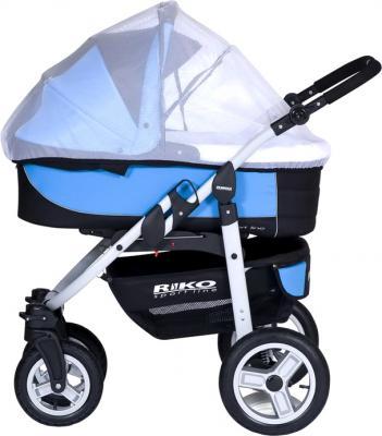 Детская универсальная коляска Riko Amigo (Neon Blue) - противосмоскитная сетка
