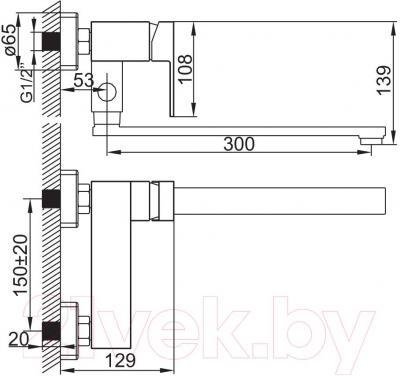 Смеситель Iddis Hunk VM33147T12K