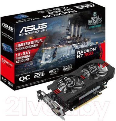 Видеокарта Asus Radeon R7 360 2GB GDDR5 (R7360-OC-2GD5)