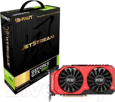 Видеокарта  Palit GeForce GTX 960 JetStream 2GB GDDR5 (NE5X960H1041-2061J)